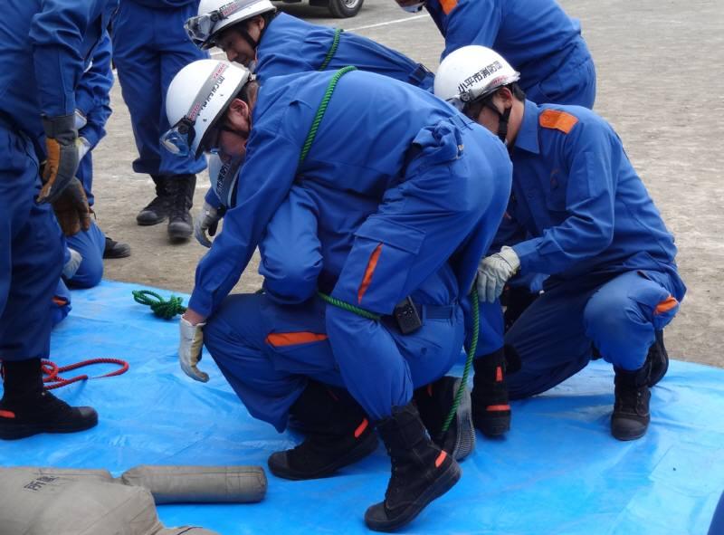 小平市消防団規律・救助訓練_f0059673_2038481.jpg