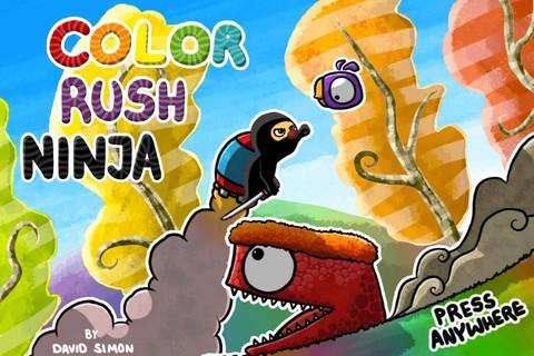 期間限定無料セール中!走ってジャンプのアクションゲームアプリ「Color Rush Ninja」_d0174998_22373426.jpg
