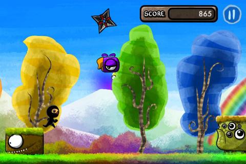 期間限定無料セール中!走ってジャンプのアクションゲームアプリ「Color Rush Ninja」_d0174998_2246428.jpg