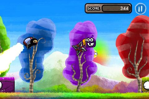 期間限定無料セール中!走ってジャンプのアクションゲームアプリ「Color Rush Ninja」_d0174998_2248172.jpg