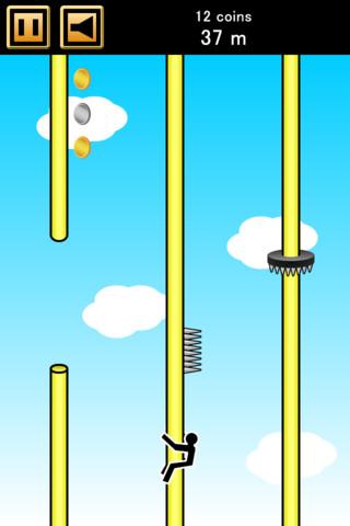 懐かしのアレがゲームになった!のぼり棒のてっぺん目指そう!iPhoneアプリ「ヤバいのぼり棒」(無料)_d0174998_1032189.jpg
