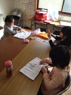 長尾教室〜縫いもの  ぞうきん_f0215199_1134368.jpg