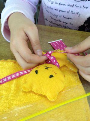 長尾教室〜縫いもの  ぞうきん_f0215199_1135686.jpg