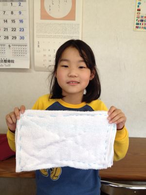 長尾教室〜縫いもの  ぞうきん_f0215199_114182.jpg