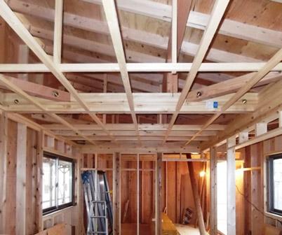 「丘に建つ回遊ウッドデッキの家」木工事_f0170331_1027635.jpg