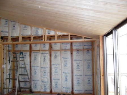 「丘に建つ回遊ウッドデッキの家」木工事_f0170331_1027965.jpg