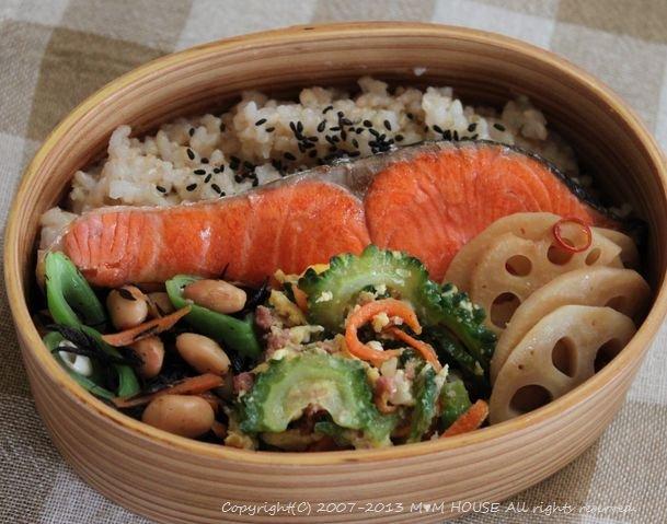 食欲の春?・・・(゚ー゚* ☆ 鮭弁と豆腐ハンバーグ♪_c0139375_1410152.jpg