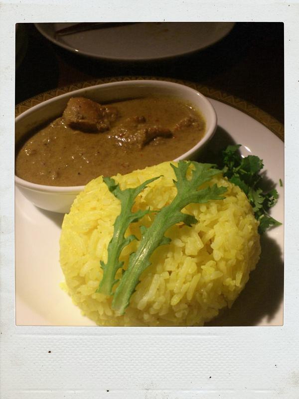 今度はレアな南インドカレーを居酒屋さんで食べる@円相玉宮_b0065587_13364421.jpg