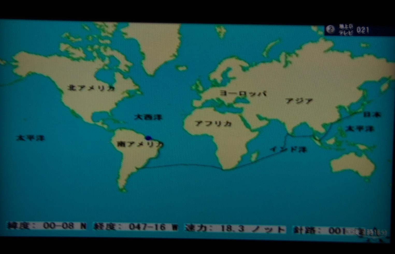 早朝赤道通過 Crossed the Equator Early Morning_e0140365_21322946.jpg