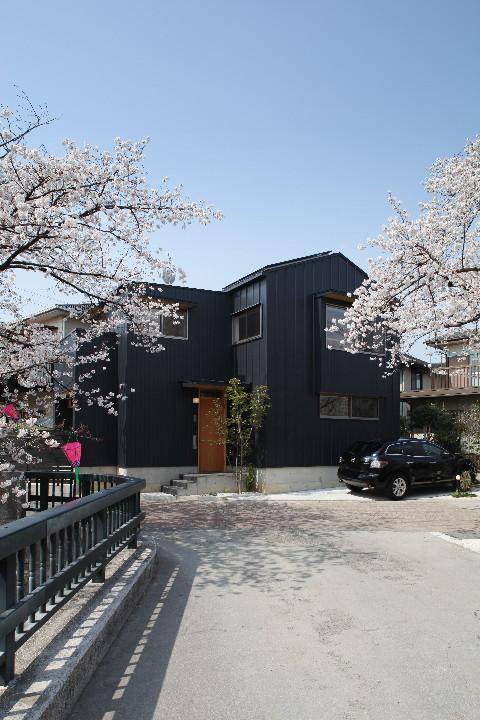 桜並木を眺める小さな家_b0179213_1856771.jpg