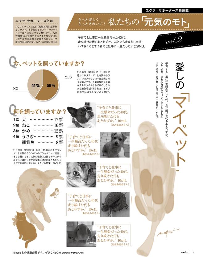 集英社エクラ2『ペット』 2色ページの制作_f0172313_23381673.jpg
