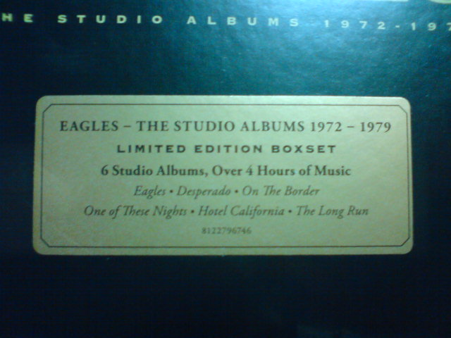 本日到着CD 〜 The Studio Albums 1972-1979 / Eagles_c0104445_22382767.jpg