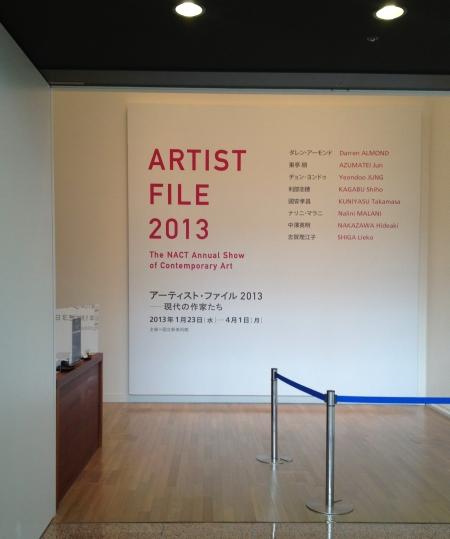 アーティスト・ファイル2013~現代の作家たち展  国立新美術館_a0163788_22252340.jpg