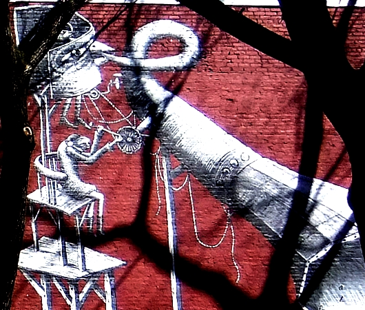 NYの名も無き公園の壁に、Phlegmさんの超巨大ストリート・アート_b0007805_993383.jpg