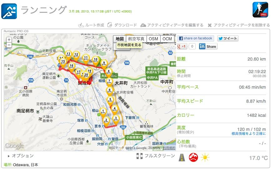 桜満開 初バテジョグ 20km_c0067646_8463356.jpg