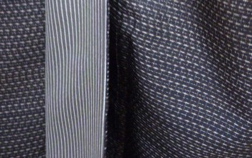 男物の大島紬に花織の帯、絞りのコートのお客様_f0181251_1375430.jpg