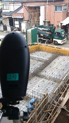 基礎コンクリート打ち込み_b0066260_8183314.jpg