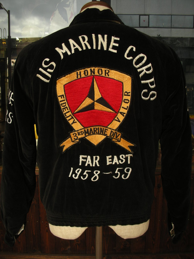 1950\'S USMC VELVET SOUVENIRFAR EAST TOUR JACKET_c0187684_13121528.jpg