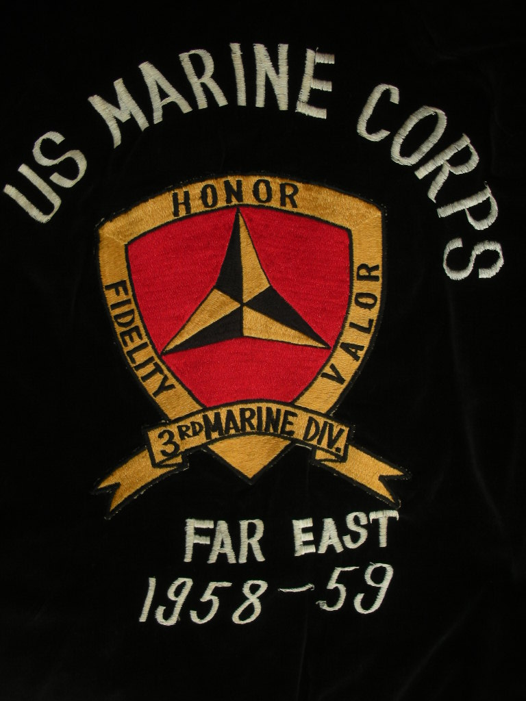 1950\'S USMC VELVET SOUVENIRFAR EAST TOUR JACKET_c0187684_13143554.jpg