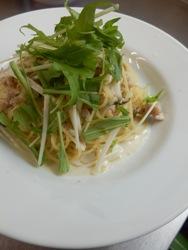 3/30本日のパスタ:鶏とキノコの豆乳スパゲティ_a0116684_1142714.jpg