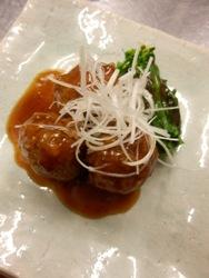 3/30晩ごはん:肉団子の黒酢あん_a0116684_19506.jpg