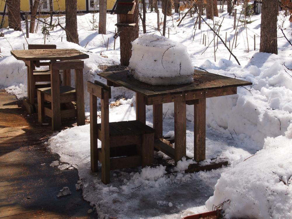 まだまだ雪が残る宿のまわり・・・快晴の新年度4月1日。_f0276498_16264922.jpg
