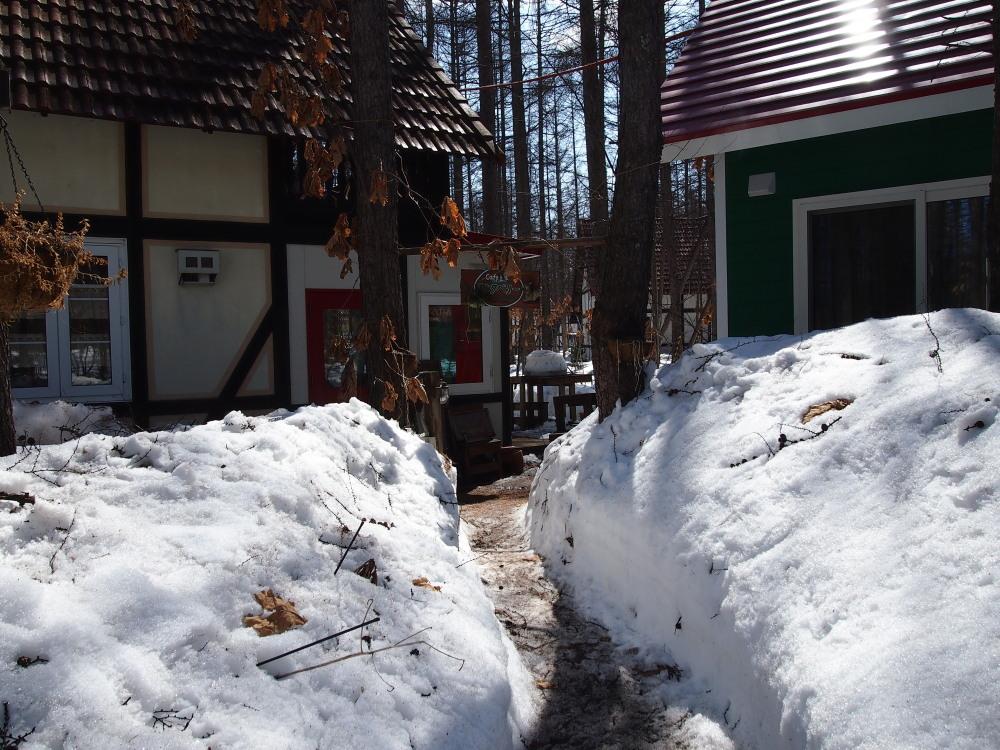 まだまだ雪が残る宿のまわり・・・快晴の新年度4月1日。_f0276498_16285137.jpg