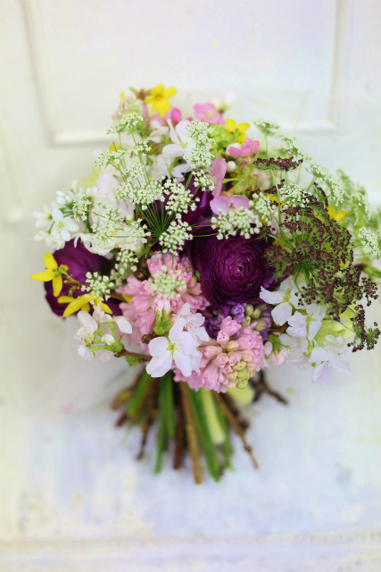 一会定期スクール3月 春の花木のブーケ1 コンパクトなブーケ編_a0042928_18131598.jpg