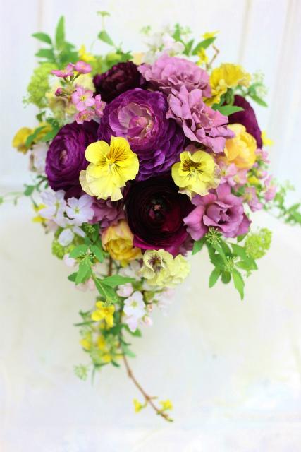 一会定期スクール3月 春の花木のブーケ1 コンパクトなブーケ編_a0042928_18143262.jpg