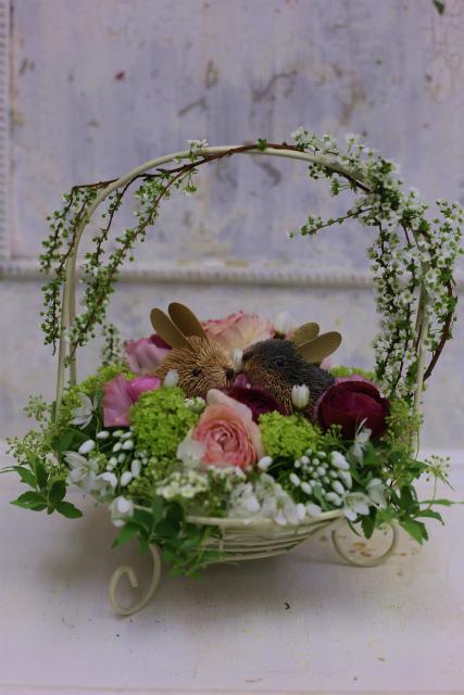 一会定期スクール3月 春の花木のブーケ1 コンパクトなブーケ編_a0042928_1843294.jpg