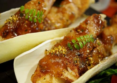 季節のおつまみ【竹の子の豚バラ肉スパイラルソテー餡かけ】_b0033423_19431684.jpg