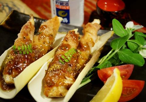 季節のおつまみ【竹の子の豚バラ肉スパイラルソテー餡かけ】_b0033423_19492612.jpg