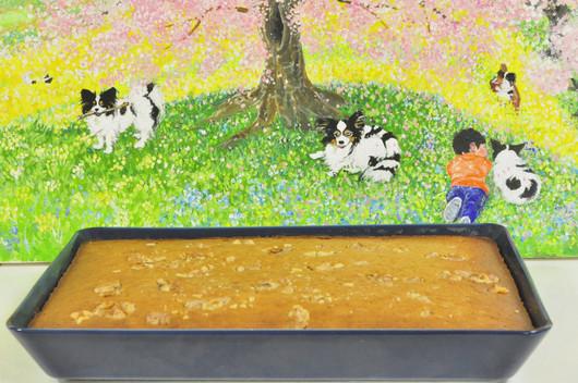 春の絵「息子とワンコ」とバナナケーキレシピ_b0171098_12474072.jpg