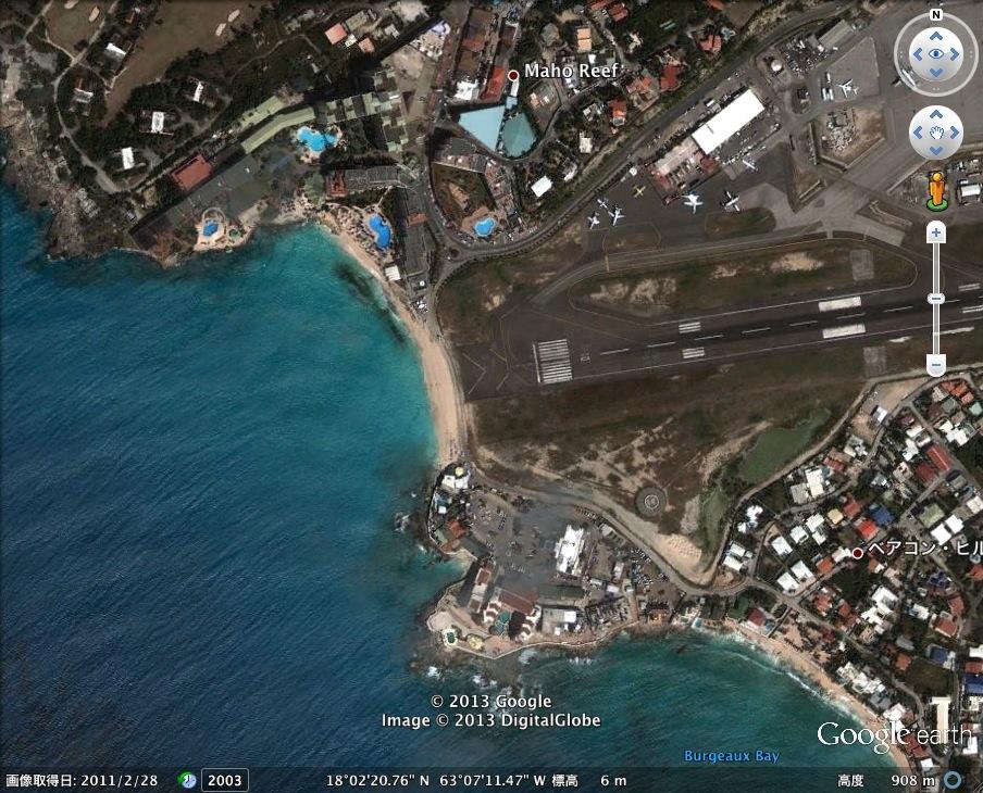 世界一危険なビーチ発見!:その名も「プリンセス・ジュリアナ国際空港海水浴場」_e0171614_10572018.jpg