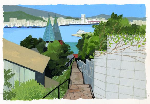 ANA翼の王国 吉田修一・エッセイ「空の冒険」のイラストレーション_c0075725_13461070.jpg