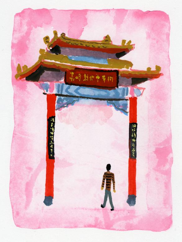 ANA翼の王国 吉田修一・エッセイ「空の冒険」のイラストレーション_c0075725_13474588.jpg