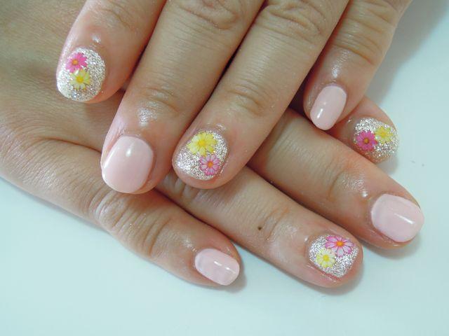 Pink Flower Nail_a0239065_16484179.jpg