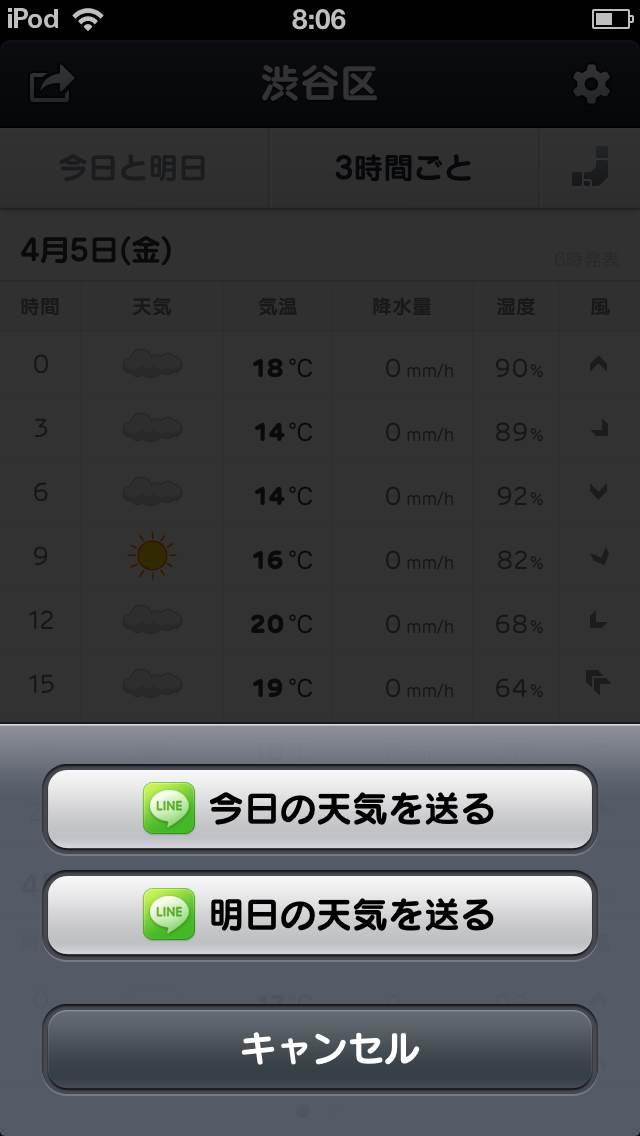 LINE 天気スクリーンショット2