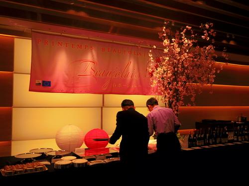 春ボジョレーと夜桜ビュッフェ@八芳園_e0123104_6525325.jpg