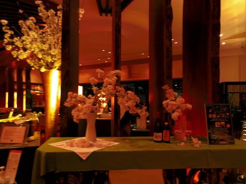 春ボジョレーと夜桜ビュッフェ@八芳園_e0123104_755794.jpg
