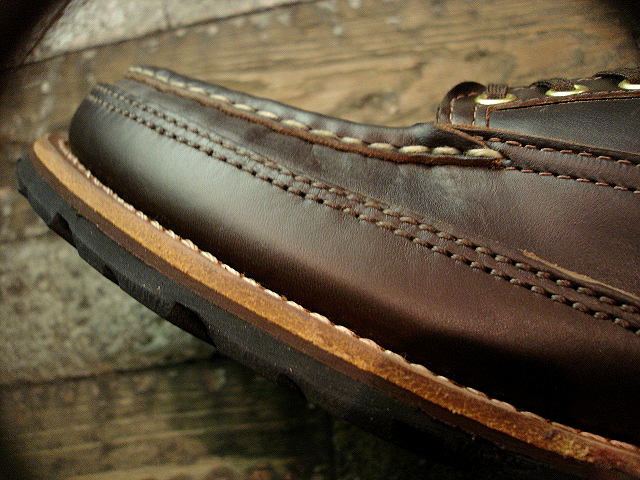 "NEW : RUSSELL MOCCASIN CO. [MINIMALIST HURON] ""Espresso Navigator\"" _a0132147_175312.jpg"