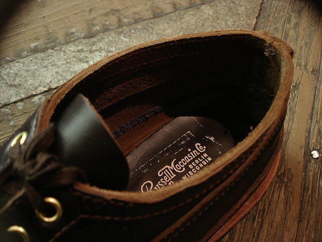 "NEW : RUSSELL MOCCASIN CO. [MINIMALIST HURON] ""Espresso Navigator\"" _a0132147_18862.jpg"