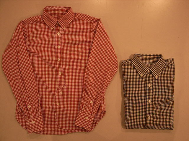 """TheThreeRobbers BOTTON DOWN COLLAR SHIRT GINGHAM\""ってこんなこと。_c0140560_11154740.jpg"