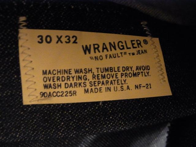 デッドストックでています!60-70'S WRANGLER JEANS!_c0144020_12395899.jpg