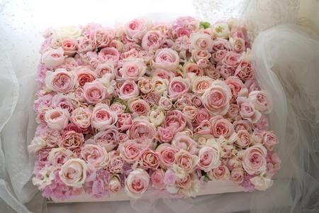 フラワーケーキ  ピンクの甘いバラで_a0042928_2215641.jpg
