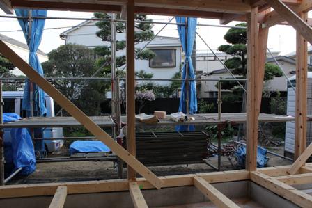 「既存の庭を愛でる家」上棟しました_f0170331_20554873.jpg