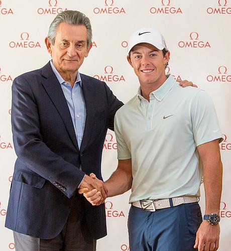オメガがゴルフ界の2大巨星ローリー選手、ステイシー選手と契約_f0039351_022236.jpg