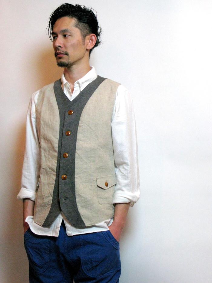 ◆Linen×Knit Tailor Vest_e0142928_15102457.jpg