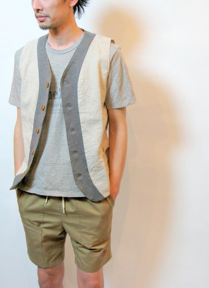 ◆Linen×Knit Tailor Vest_e0142928_15113030.jpg