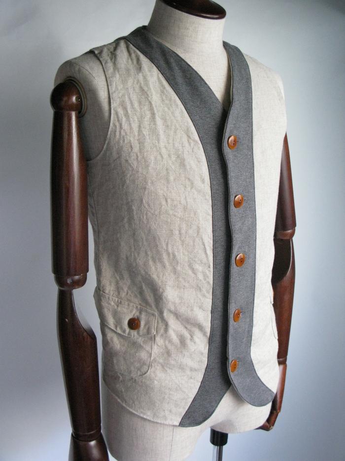 ◆Linen×Knit Tailor Vest_e0142928_15131018.jpg